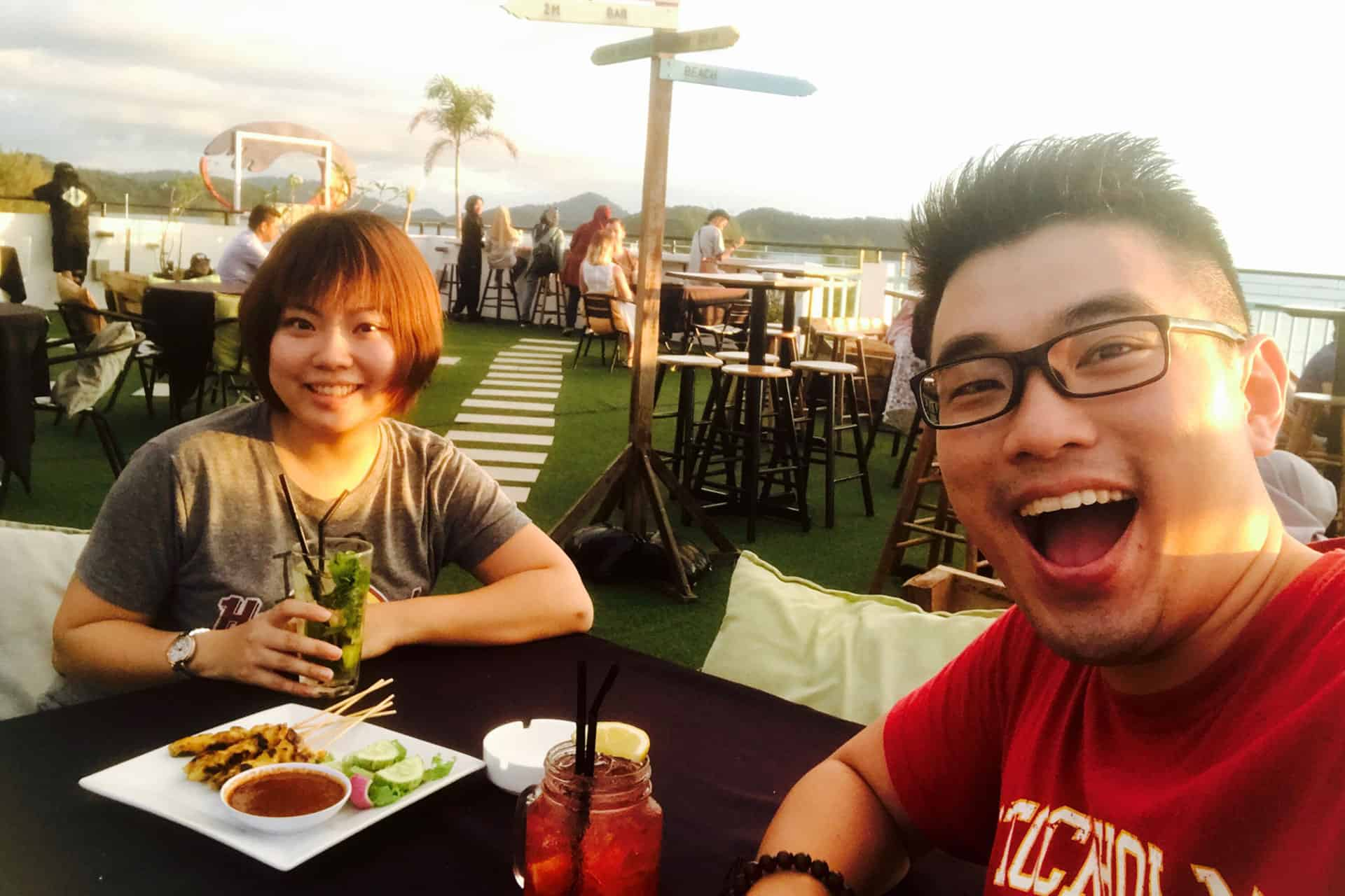 CrazyAdven2ras At Nest rooftop cafe,Langkawi