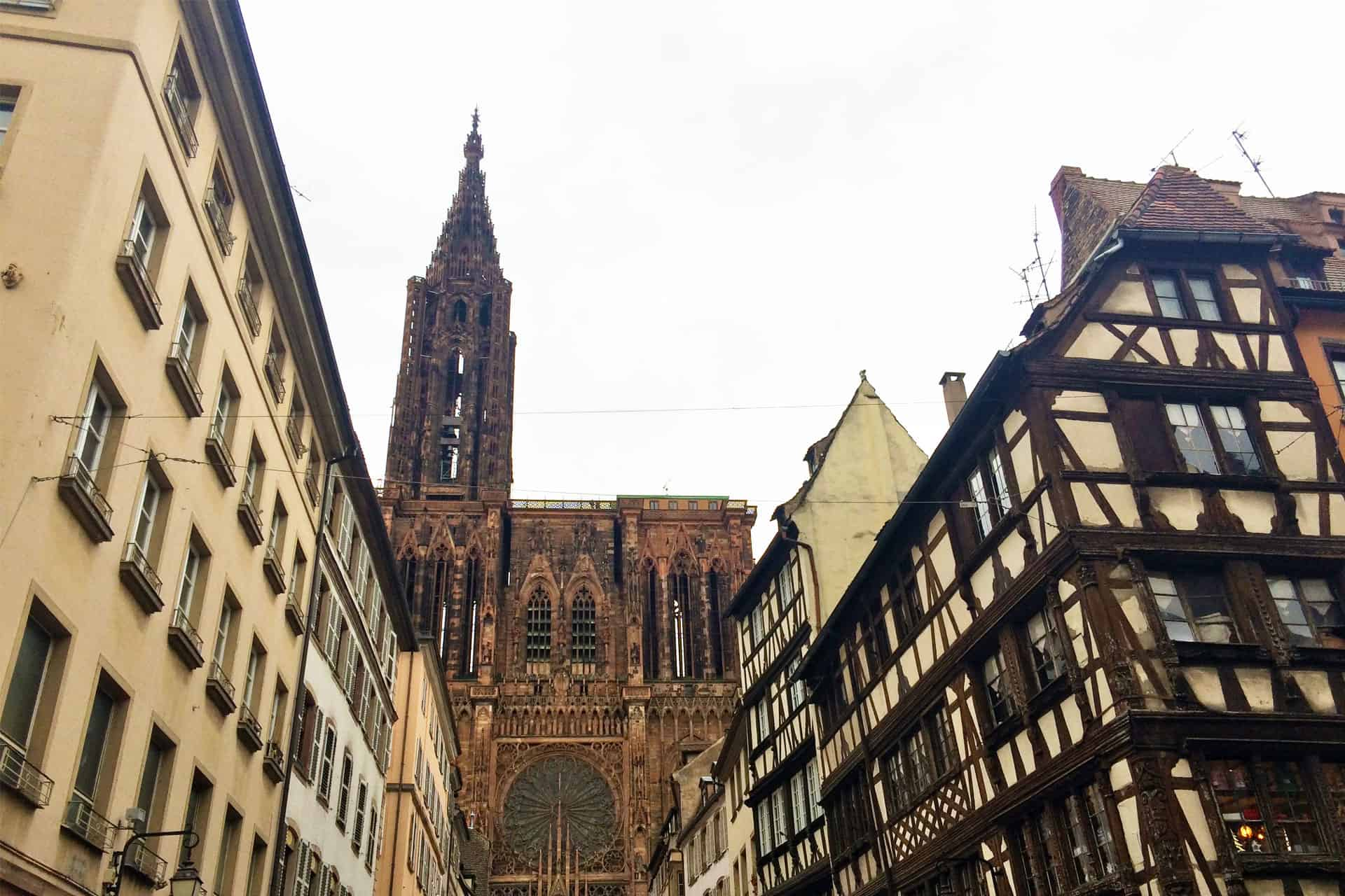 Walking towards the Notre Dame of Strasbourg!