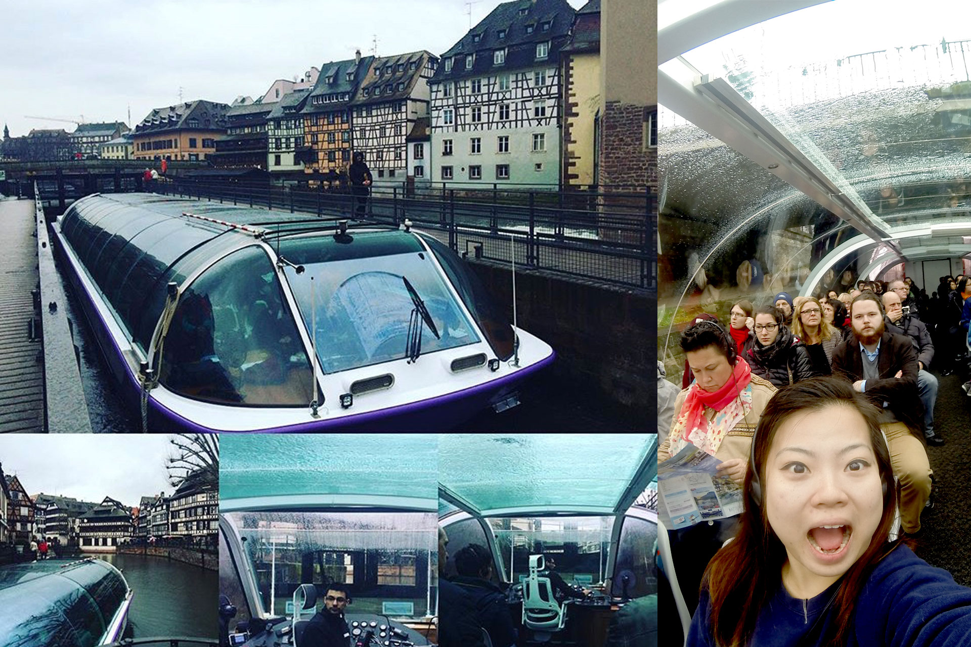 Glass topped canal cruise,not affected by the weather!
