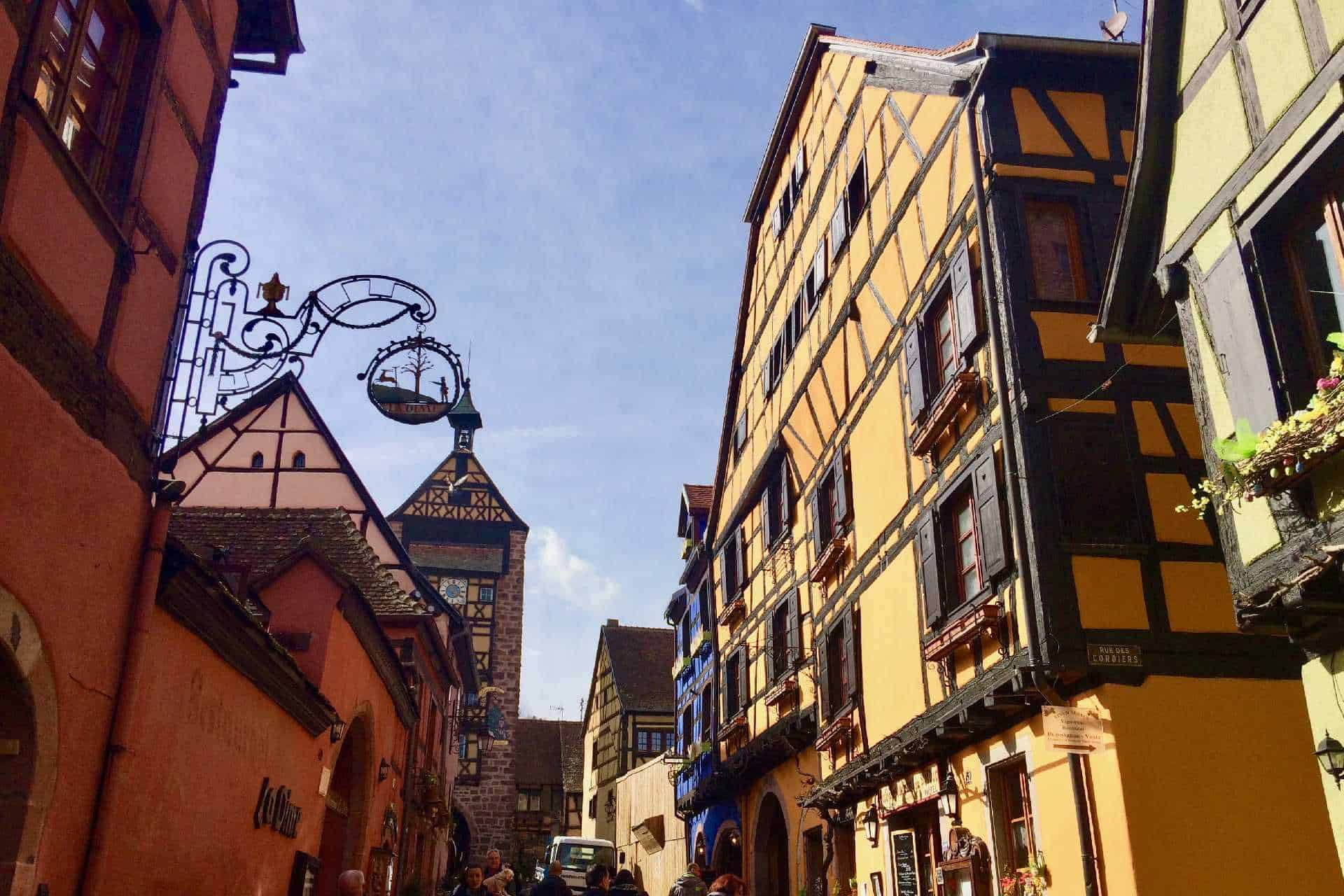 Riquewihr(also known as Rique farm) town, very colourful and quiet town.
