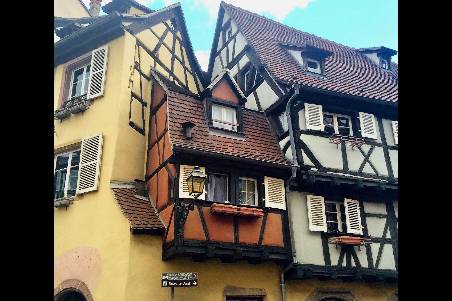 Smallest house In Colmar(red-orange house) - measuring 25 square metres