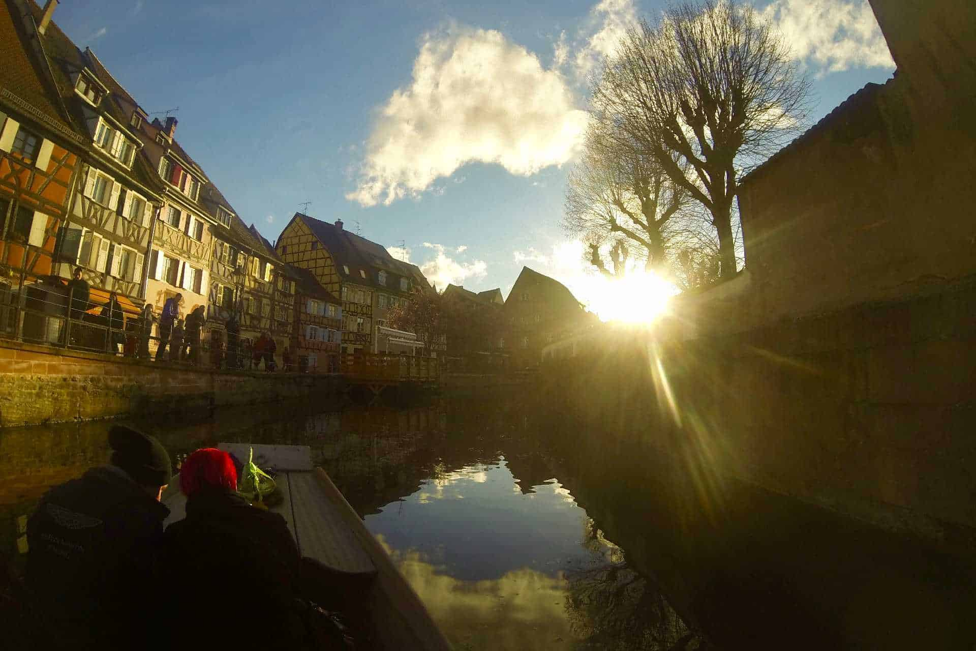 Sunset view of petite venise on canal cruise